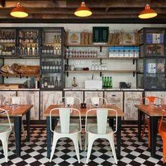 Cafe interior designfruit storage