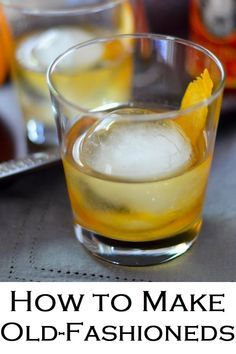 The Perfect Old-Fashioned. The trick of how to Make Old-Fashioneds. Delicious, classic whiskey cocktail recipe at home. The Perfect Old-Fashioned. The trick of how to Make Old-Fashioneds. Delicious, classic whiskey cocktail recipe at home. The Perfec Whisky Cocktail, Bourbon Cocktails, Whiskey Drinks, Champagne Cocktail, Cocktail Drinks, Fun Drinks, Mixed Drinks, Sour Cocktail, Classic Cocktails