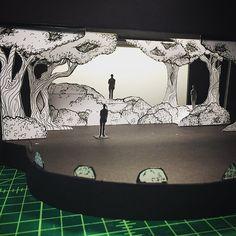 White Model by Katie Dill kdilldesign, Scenic Design, Set Design, 3 Pigs, Children's Theatre, Sketch, forrest