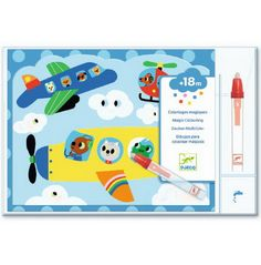 This fantastic Djeco Magic Colouring Hidden in the Sky kit is perfect for no mess, fun-filled creative play! Little ones simply fill the provided, Plastic Pouch, Magic Forest, Creative Play, Illustrations, Friend Wedding, Ciel, Little Ones, Gift Wrapping, Kids Rugs