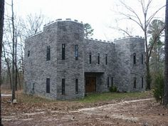 Unknown Castle - Winnsboro, Texas, I must find this. Castle House Plans, Particle Wood, Medieval, Storage Shed Kits, Shed Base, Steel Siding, Small Castles, Modern Shed, Large Sheds