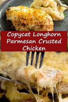 Chicken Slovaki Recipe, Whole 30 Chicken Recipes, Chicken Parmesan Recipes, Yummy Chicken Recipes, Longhorn Parmesan Crusted Chicken Recipe, Fish Recipes, Pasta Recipes, Soup Recipes, Vegetarian Recipes