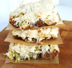 """Pineapple Cheesecake Carrot Cake Bars 
