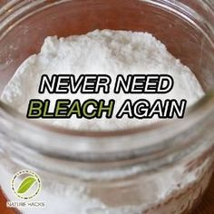 Vinegar, baking soda and hydrogen peroxide work together to create a just as effective, natural alternative by Deb04u