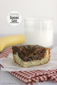 Black and White Banana Cake | www.tasteandtellblog.com #recipe #banana #cake