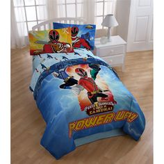 The Power Rangers Samurai kid's bedding set is ideal for creating a familiar atmosphere in your child's bedroom. The comforter in this set is made from machine-washable polyester microfiber to help keep the little one warm and cozy.