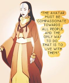"""Yangchen quote from the Avatar video game """"Escape from the Spirit World, explaining why the Avatar exists as a fallible human in each incarnation"""