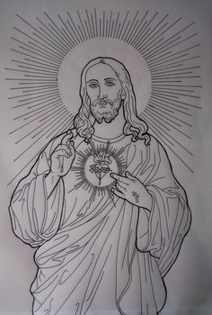 jesus tattoo drawing drawings tattoos easy pencil sketch cross realistic sketches sacred heart simple liverpool designs draw leg buda paintingvalley