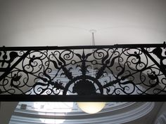 overhead wrought-iron decoration from V & A