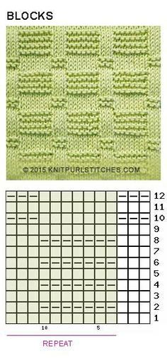 Blocks (Pattern 2). Just Knit and Purl