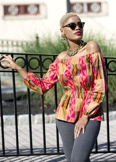 Our Mia African print top is a must needed staple if you love African print clothing and need a nice add to your wardrobe. Shop online today atD'IYANU!