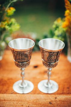 Lord of the Rings inspired wedding goblets | Artemis Photography