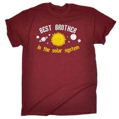 123t USA Men's Best Brother In The Solar System Galaxy Design Funny T-Shirt