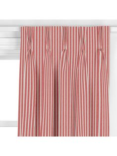 Buy John Lewis & Partners Solva Stripe Curtain, Red from our Made to Measure Curtains range at John Lewis & Partners. Striped Curtains, Pleated Curtains, Red Curtains, Curtain Headings, Window Fitting, Red Colour Palette, Pencil Pleat, Made To Measure Curtains