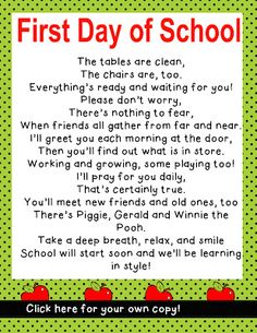 math worksheet : second grade first day and poem on pinterest : First Day Of School Poem For 2nd Grade