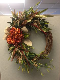 Items similar to Grapevine wreath on Etsy Diy Wreath, Grapevine Wreath, Door Wreaths, Wreath Ideas, Tulle Wreath, Burlap Wreaths, Wreath Making, Burlap Bows, Autumn Wreaths