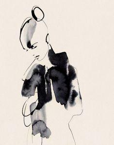 Fashion Illustration Design Cecilia Carlstedt illustration for The Wild Magazine Ink Illustrations, Illustration Sketches, Art Sketches, Art Drawings, Fashion Illustrations, Drawing Faces, Portrait Illustration, Kunst Portfolio, Life Drawing