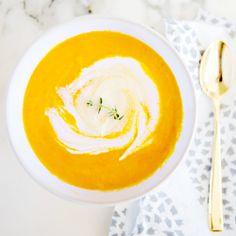 vegan carrot ginger soup, two way!