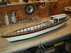 #Vintage wooden radio controlled model boat/ launch #ideal restoration #project,  View more on the LINK: http://www.zeppy.io/product/gb/2/401264335898/