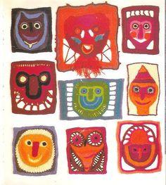 crochet faces using free crochet