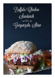 Where spicy, hot sauce meets the chill of a cool slaw all rolled into a yummy sandwich!