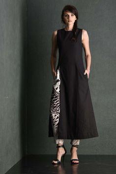 Slit Black Long Dress