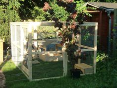 Bunny play area for sunny days. Buns should live inside though. Custom Woodworking, Woodworking Projects Plans, Outdoor Play Areas, Outdoor Structures, Rabbit Enclosure, Rabbit Hutches, Software Development, Sunny Days, Buns