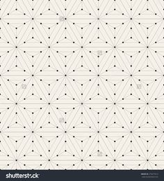 Vector Seamless Pattern. Modern Stylish Texture. Repeating Geometric Background With Linear Hexagons And Triangles. Small Circles In Nodes. Minimalistic Graphic Design. - 275677613 : Shutterstock