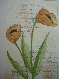 Watercolor card 10-28-11 005 by wildflowerhouse, via Flickr