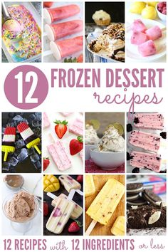 10+ Frozen Dessert Recipes | Bread Booze Bacon