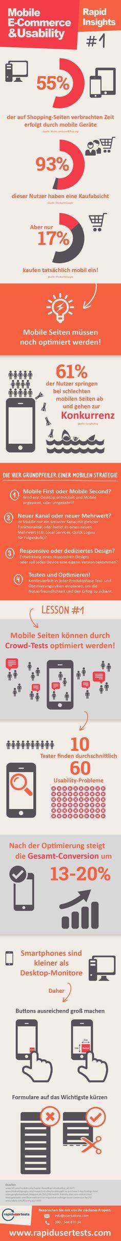 [Infografik] Ein bisschen mehr Mobile Usability, bitte!