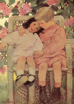 """""""Brother and Sister""""   Jessie Willcox Smith"""