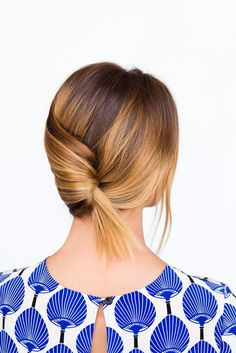 Create a casual summer french twist to beat the summer heat, while looking good, in under 60 seconds. How's that for easy?