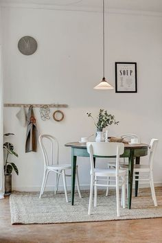 Scandinavian Dining Room Design: Ideas & Inspiration - Di Home Design Dining Room Inspiration, Home Decor Inspiration, Dining Room Design, Dining Rooms, Dining Area, Style At Home, Country Decor, Country Style, Sweet Home