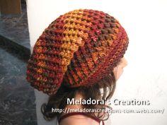 Crochet Hat - Meladora\'s Butterfly Stitch Slouch Hat Tutorial