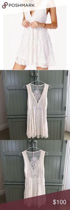 4b892a7afc Free People White Lace Dress Free People White Lace Dress authentic Free  People Dress is in great condition. Only signs of wear and tear are on the  label ...
