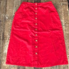 Vici Skirts | Vici Red Button Pencil Skirt | Poshmark Red Button, Skirt Fashion, Elastic Waist, Midi Skirt, Pencil, Ootd, Brand New, Buttons, Skirts