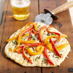 Fontina and Pepper Pizza