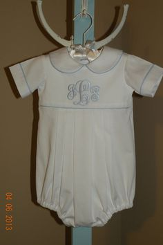 Monogrammed Bubble Suit by TheSmockingGarden on Etsy