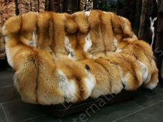 548 Saga Gold Fox Fur Blanket Genuine Fur Throw   eBay