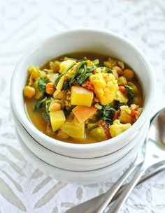 Curried Vegetable and Chickpea Stew  |  20 Easy Vegan Weeknight Dinners