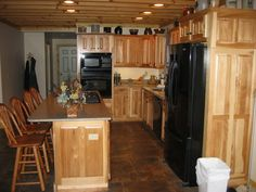Natural Hickory Kitchen Cabinets Tucson