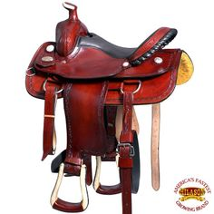 New 16 Hilason Big King Western Leather Ranch Roping Cowboy Saddle Mahogany Outdoor Sports. offers on top store Roping Saddles, Western Horse Saddles, Leather Saddle Bags, Leather Tooling, Chapeau Cowboy, Horse Tack, Smooth Leather, Westerns, Horses