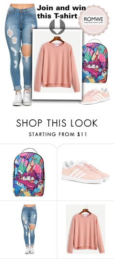"""""""NEW Romwe contest"""" by beenabloss ❤ liked on Polyvore featuring Sprayground and adidas Originals"""