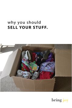 How (& why) you should sell your stuff. Tips for how to sell on craigslist, eBay, & more.