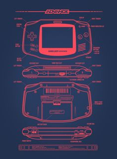 — Game Boy Advance Art by Adam Rufino Game Boy, Nintendo Sega, Super Nintendo, Nintendo Consoles, Retro Video Games, Video Game Art, Retro Games, Metroid, Videogames