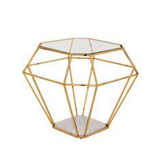 Eichholtz Asscher Side Table - Gold