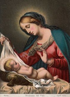 Madonna del Velo A lithography of the Madonna of the Veil by Carlo Dolci.