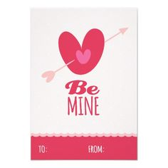 Be Mine Love Classroom School Kids Valentine's Day Custom Invites
