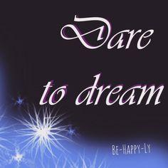 Atrevete a soñar, que nadie tiene permiso a hacerte creer que no es posible lo que deseas. ¡Sueña pero sueña en grande! --------------------------------------- Allow yourself to dream, know that nobody has permission to make you feel like your dreams are unreachable. Dream, but dare to dream big! #behappy #behappyly #daretodream #changeyourlife #dontletanybodybringyoudown #nobodycanstopyou #dream #dare #createhappiness #whatmakesyouhappy